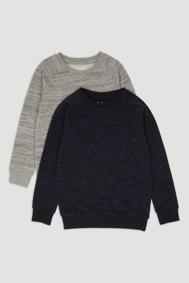 2 Pack Grey & Navy Sweatshirts