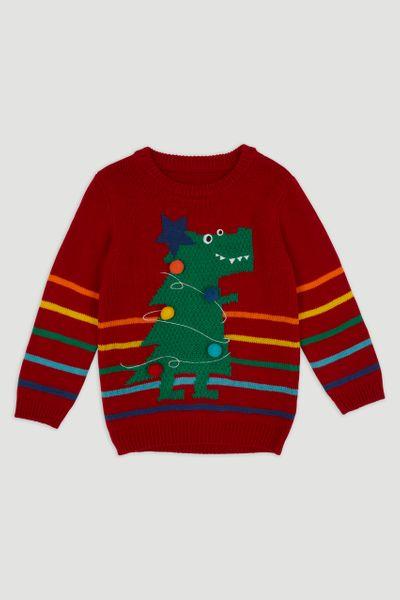 Christmas T-rex Jumper