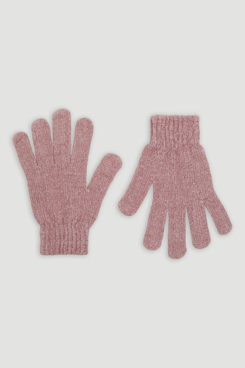 Pink Chenille Gloves
