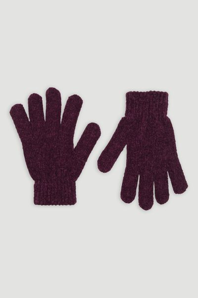 Berry Chenille Gloves