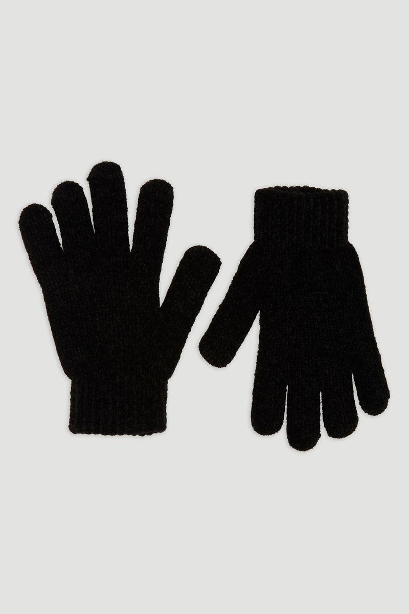 Black Chenille Gloves