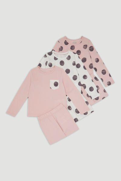 3 Pack Spot pyjamas