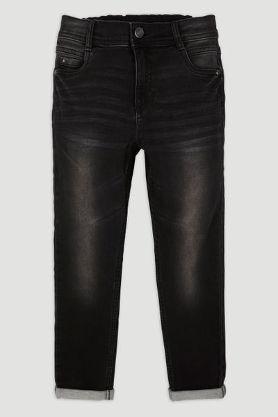 Black Elastic Back Jeans