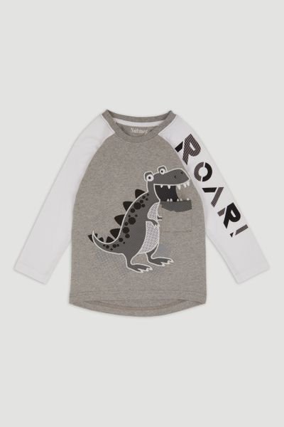 Monochrome Interactive Dino T-shirt
