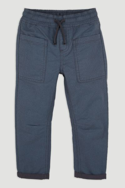 Navy Dogtooth Trousers