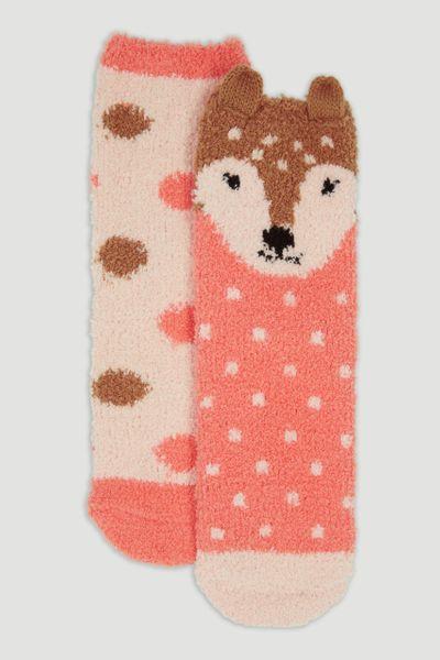 2 Pack Deer Cosy Socks
