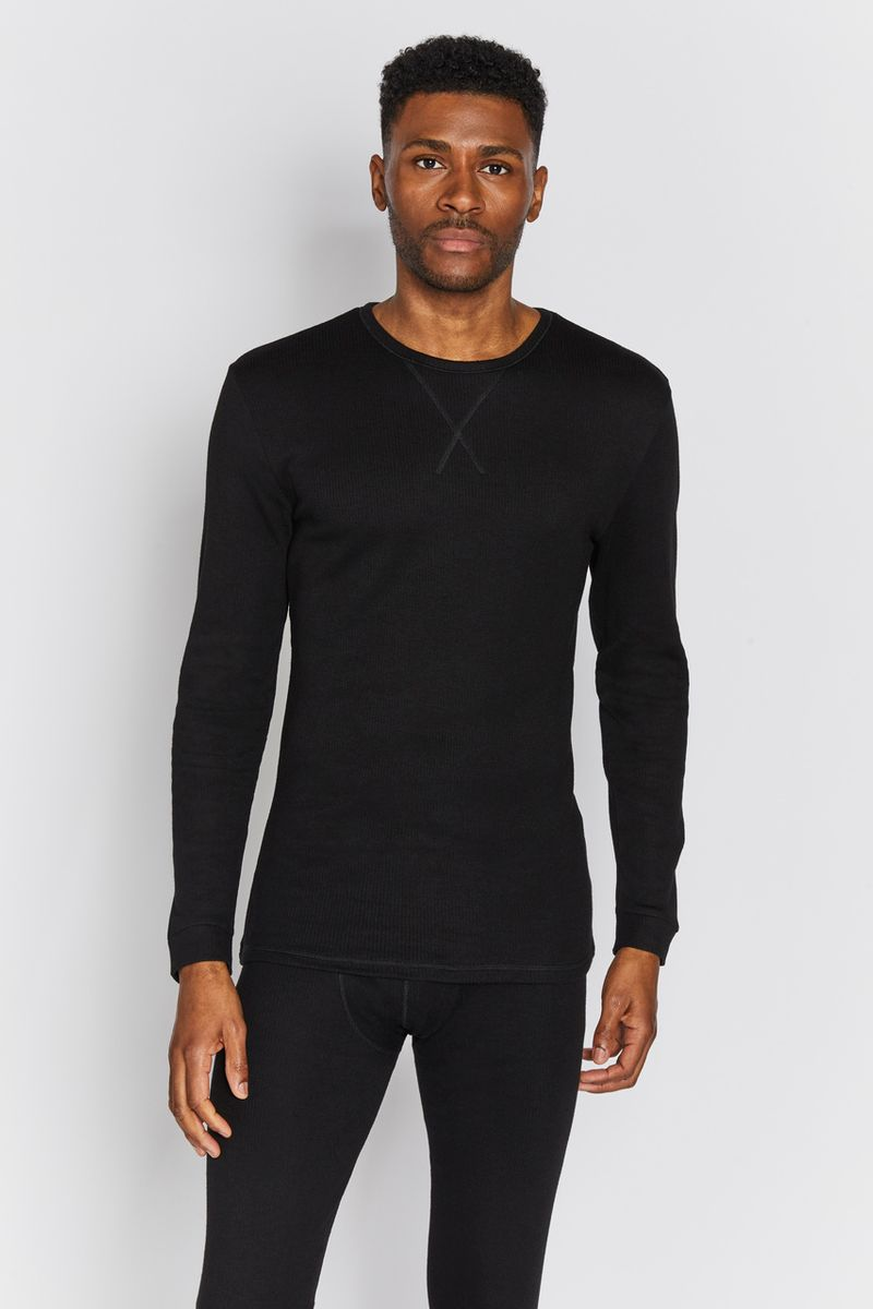 Mens Black Thermal Top
