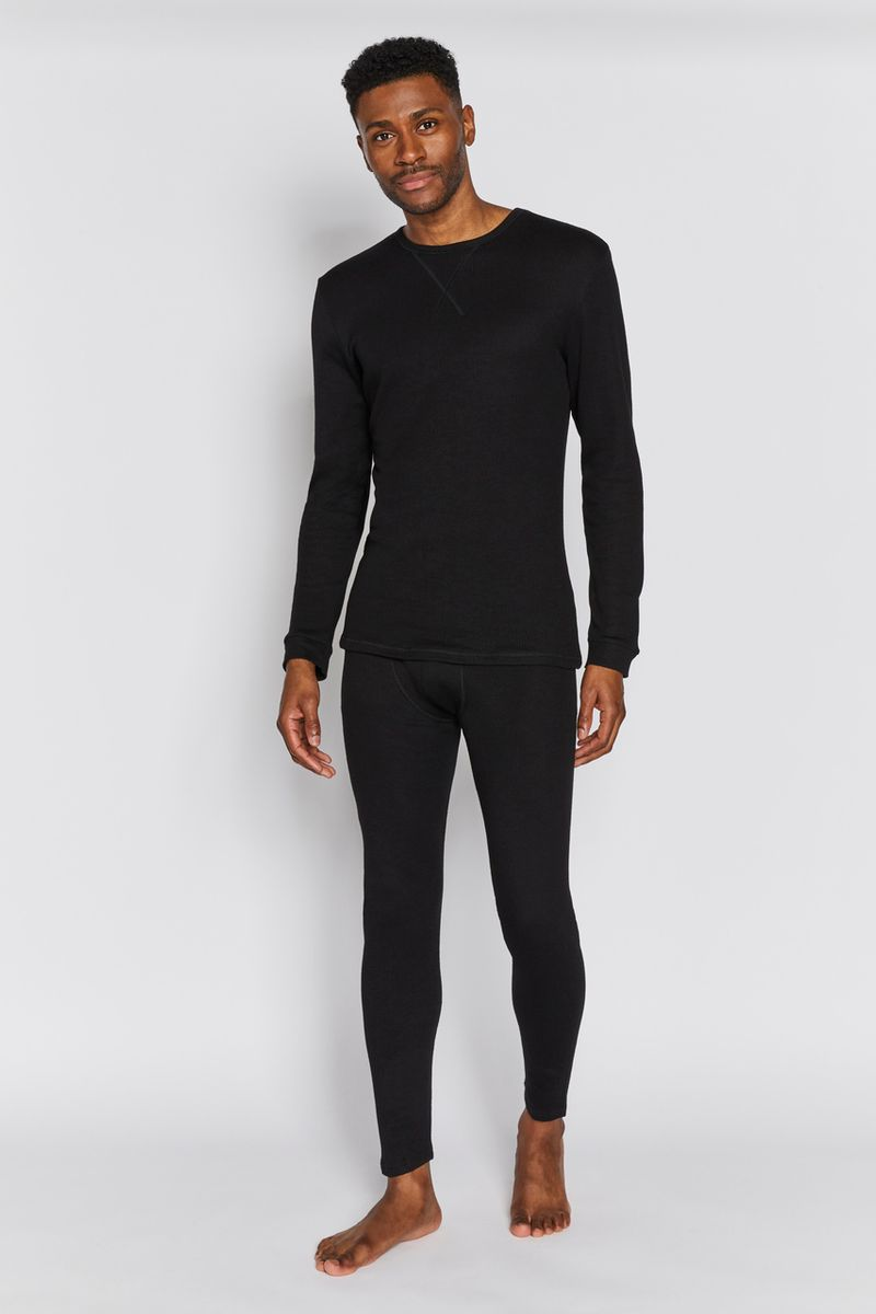 Mens Black Thermal Long Johns