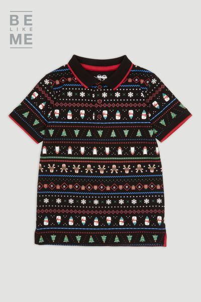 Family Of Christmas Fairisle Polo Yrs 1-14