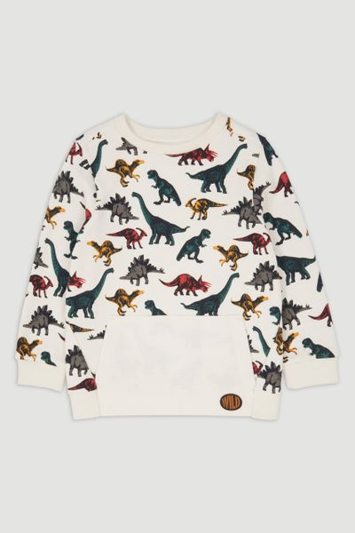 Dino Ripple Detail Sweatshirt