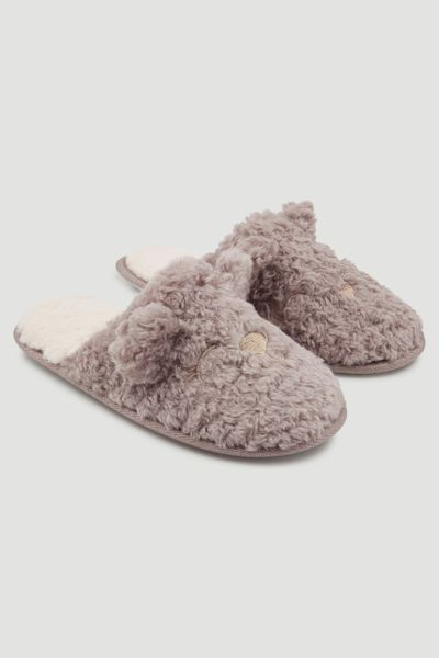 Bear Face Slippers