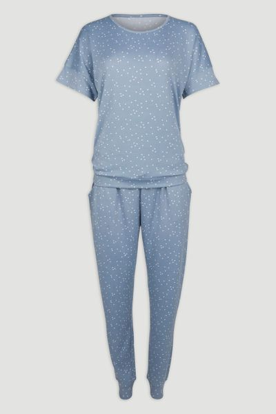 Blue Polkadot Loungewear Set