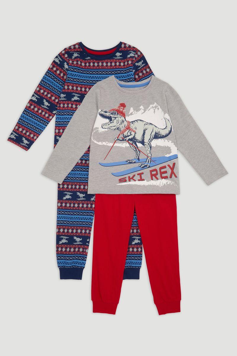 2 Pack T-Rex Pyjamas