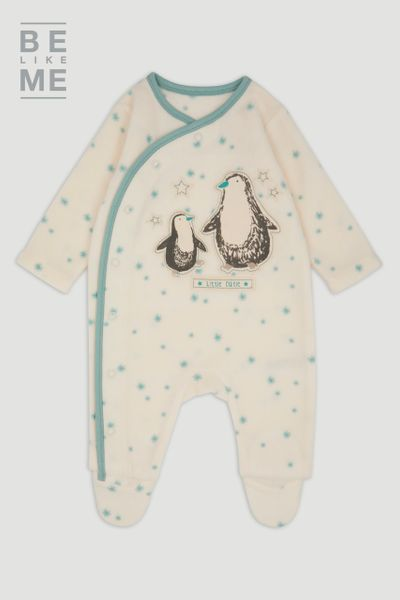Family Of Penguin Fleece Onesie