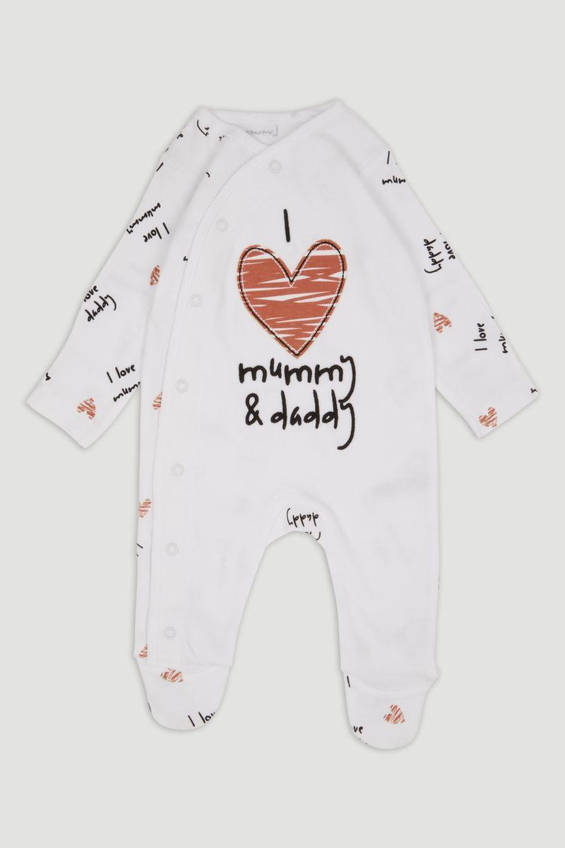 White Mummy & Daddy Sleepsuit