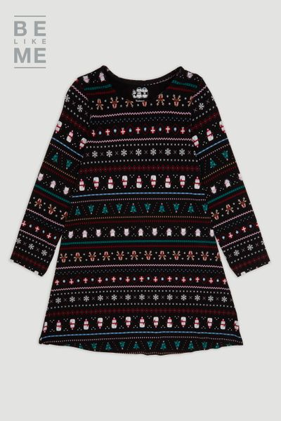Family Of Christmas Fairisle Dress