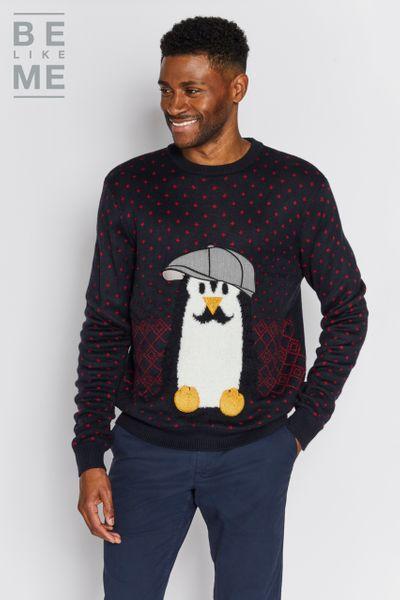 Family Of Mens Christmas Penguin Jumper