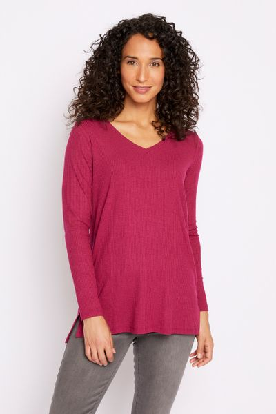 Berry Ribbed Tunic
