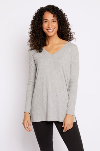 Grey Marl Ribbed Tunic