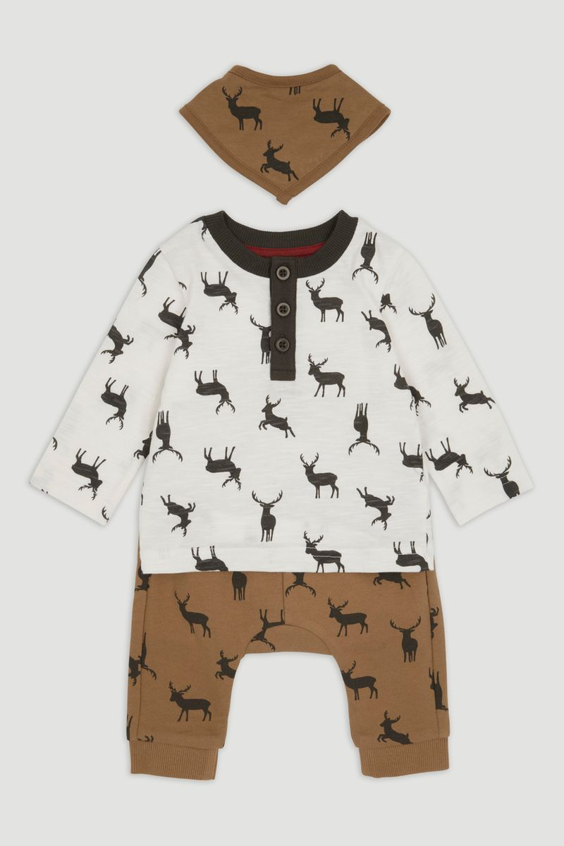 3 Piece Stag Jersey set