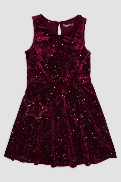 Velour Sparkle Dress & bag