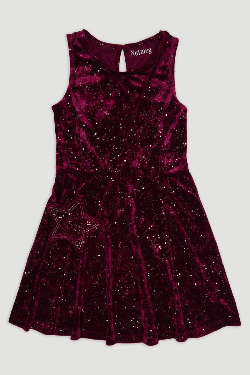 Velour Sparkle Dress & bag