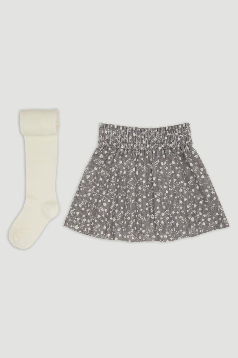 Flower Cord Skirt & tights