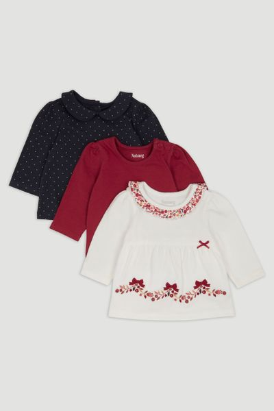 3 Pack Bow & Flower T-shirts