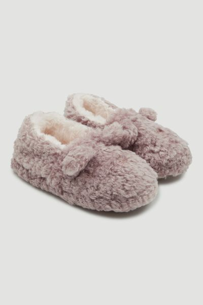 Bear Embroidered Slippers