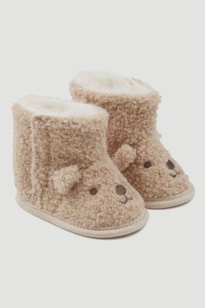 Bear Boucle booties