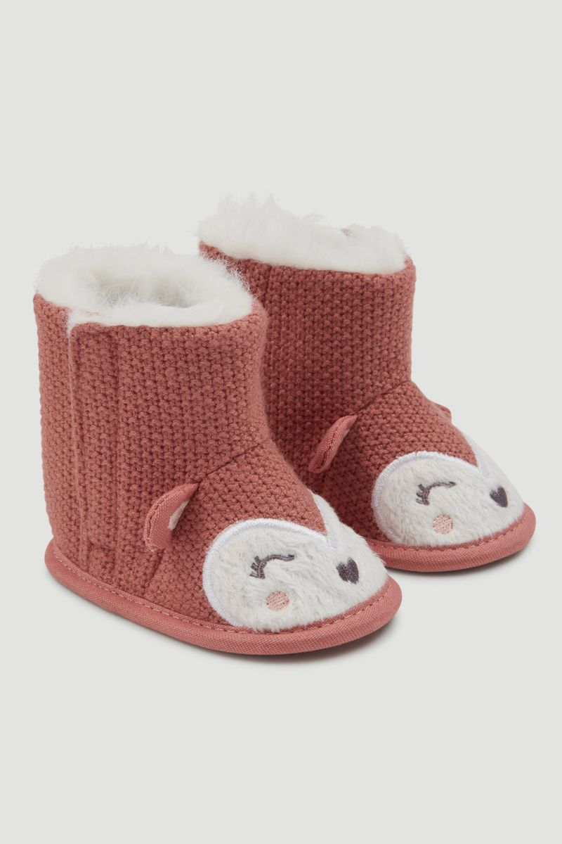 Knitted Fox booties