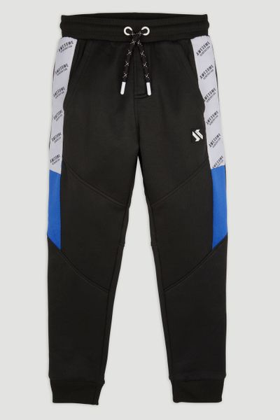 Navy Cobalt Panel Joggers