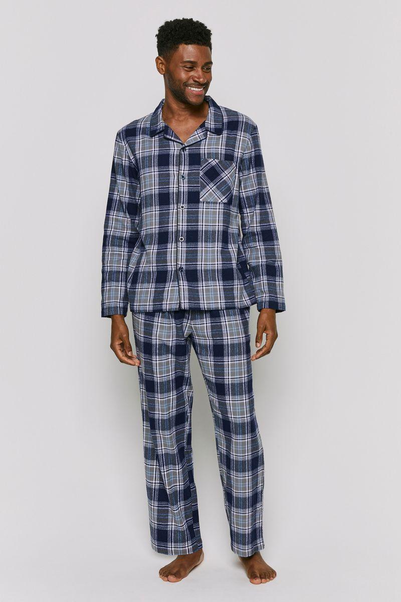 Traditional Blue Check Pyjamas