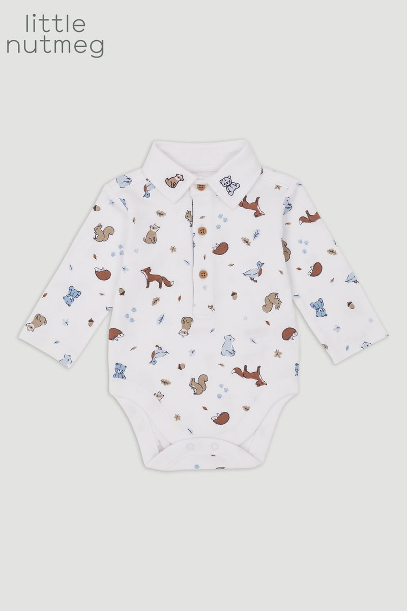 Little Nutmeg Bear Print bodysuit