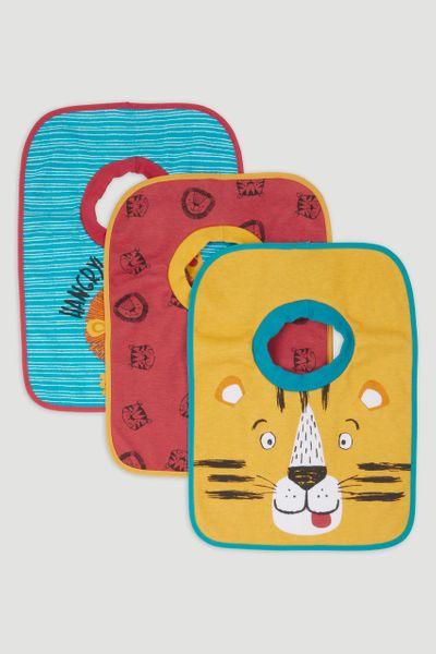 3 Pack Lion Popover bibs