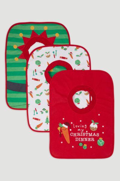 3 Pack Christmas Popover bibs