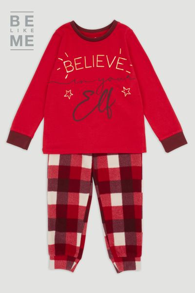 Family Of Unisex Christmas Elf Pyjamas