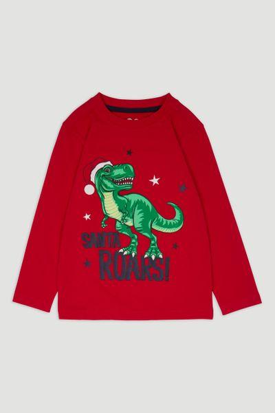 Christmas T-rex Santa T-shirt