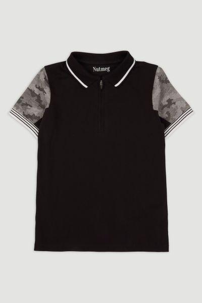 Camo Print Polo Shirt