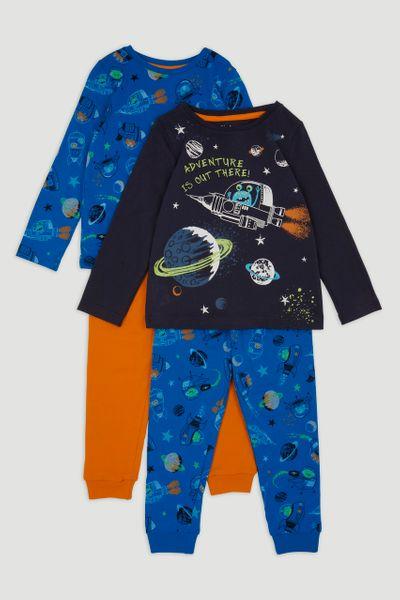 2 Pack Space Pyjamas