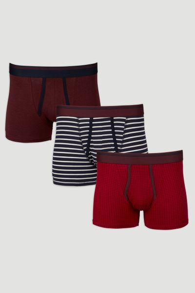 3 Pack Colourful Stripe Trunks