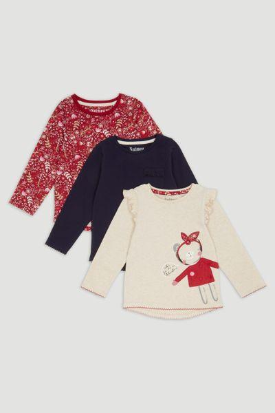 3 Pack Teddy Bear Long Sleeve T-Shirts