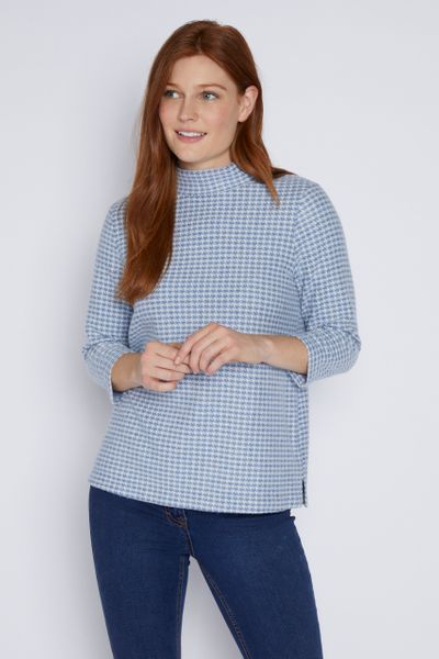 Dogtooth Blue Top