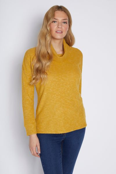 Ochre Cowl Neck Tunic