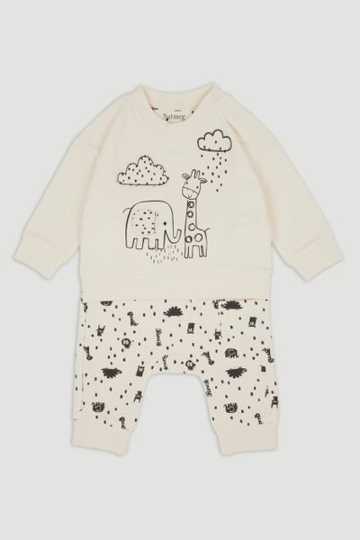 Mono Elephant Sweatshirt set