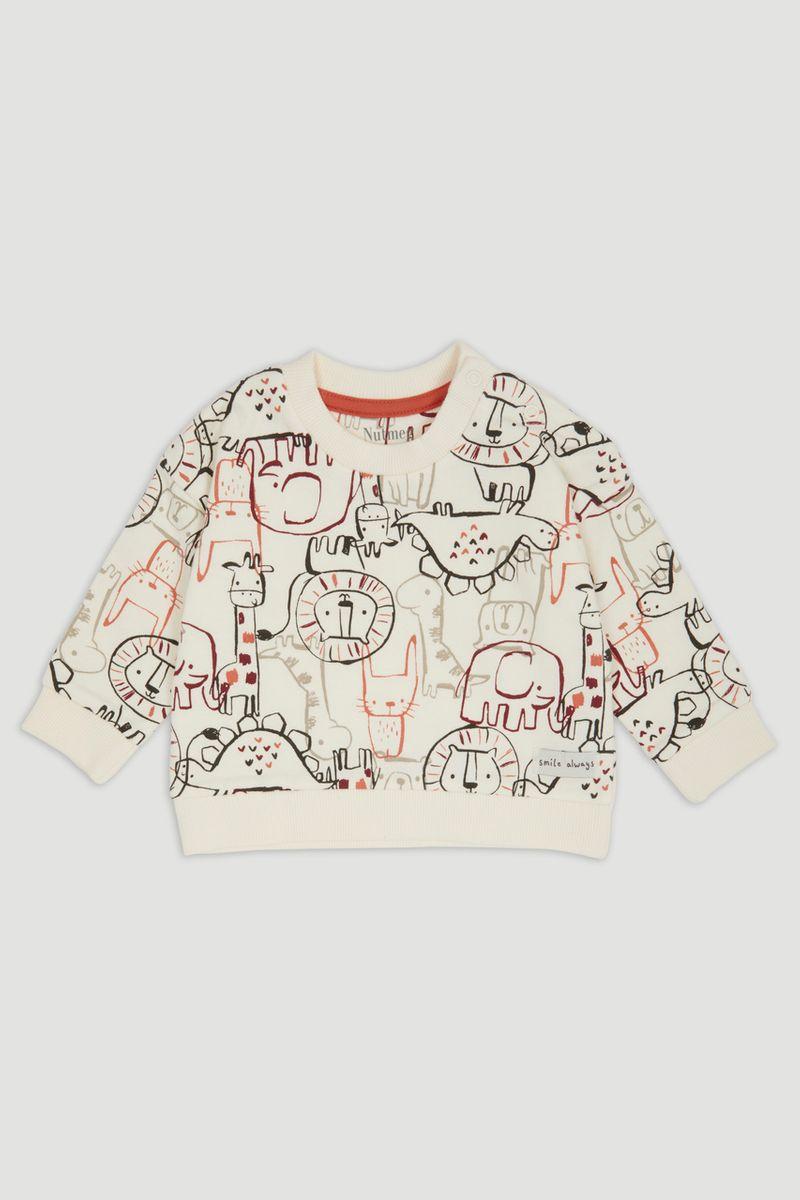 Cream Animal Print sweatshirt