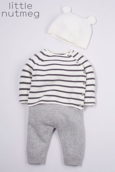 Little Nutmeg 3 Piece Stripe Knitted Set