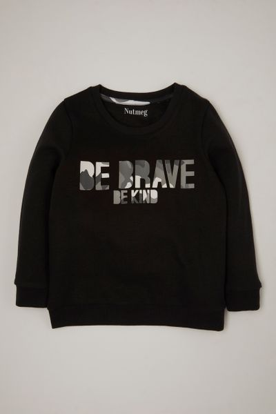 Be Brave Be Kind Camo Sweatshirt