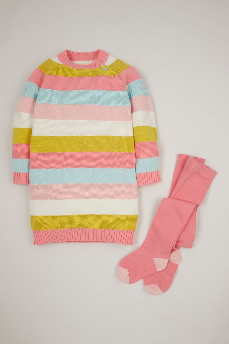 Stripe Knitted Dress & tights