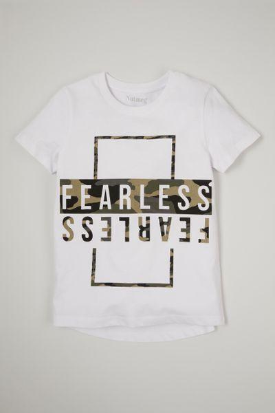 Camo Print Fearless T-Shirt